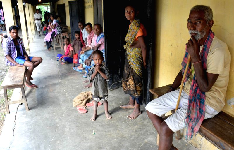 People at a relief camp at Sarupathar in Golaghat district of Assam after violence erupted along the Sector B of Assam-Nagaland border last week that killed nine persons and left over 10,000 people ..