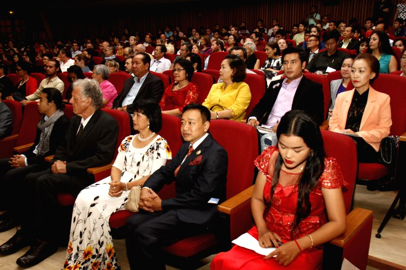 People attend the opening ceremony of the Cambodian International Film Festival (CIFF) in Phnom Penh, Cambodia, Dec. 4, 2015. The sixth CIFF kicked off in Phnom ...