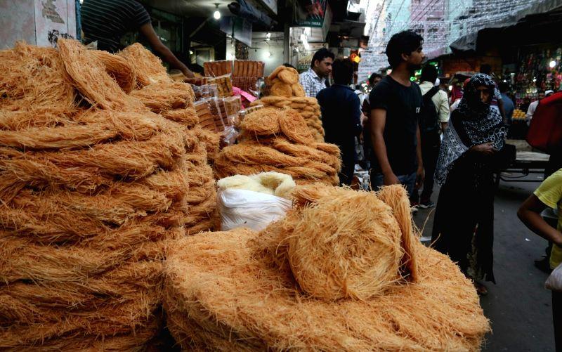 People busy shopping ahead of Ramadan at Jama Masjid Market in New Delhi, on May 27, 2017.