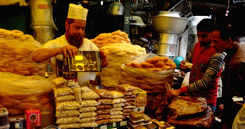 People busy shopping on the first day of Ramadan in Guwahati, on May 28, 2017.