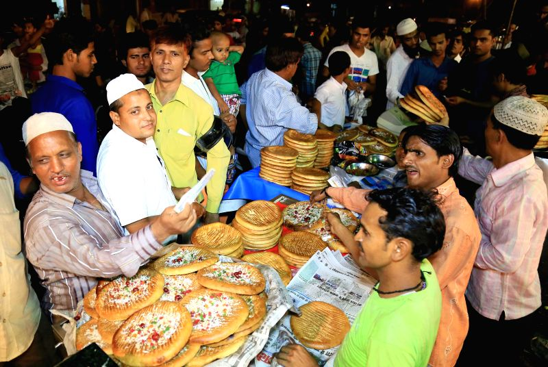 People busy with Ramadan shopping in Jaipur on June 29, 2014.