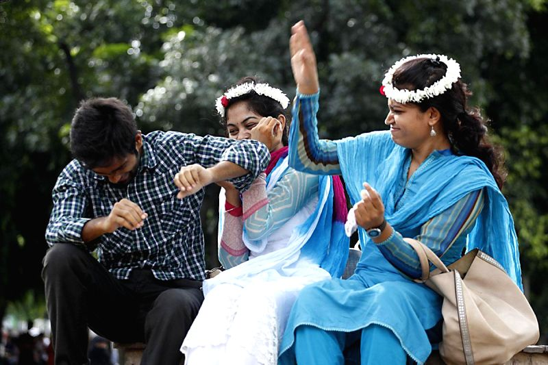 People celebrate `Friendship Day` in Dhaka, Bangladesh on Aug 3, 2014.