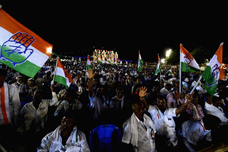 People during Congress Vice President Rahul Gandhi's election campaign rally in Chennai on May 7, 2016. - Rahul Gandhi