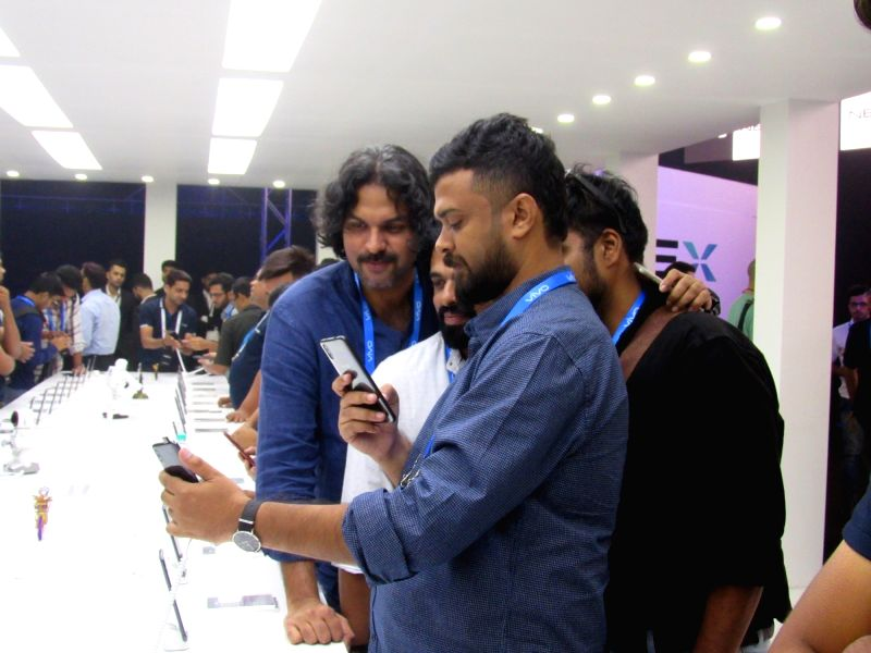 People experiences firsthand of newly launched Vivo NEX, in New Delhi, on July 19, 2018.