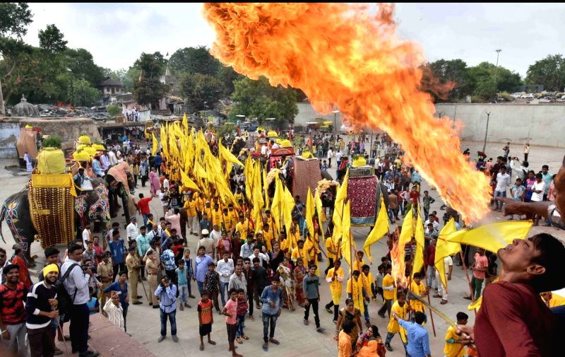 People participate in Jal Yatra in Ahmedabad, on June 9, 2017.