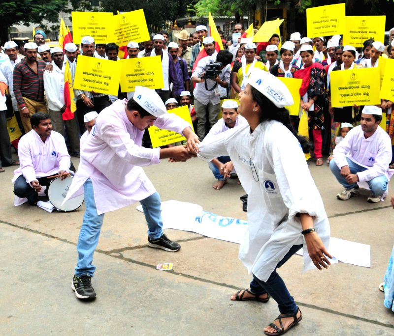 People participate in `Nirbheeti` awareness rally in Bangalore on Aug 22, 2014.
