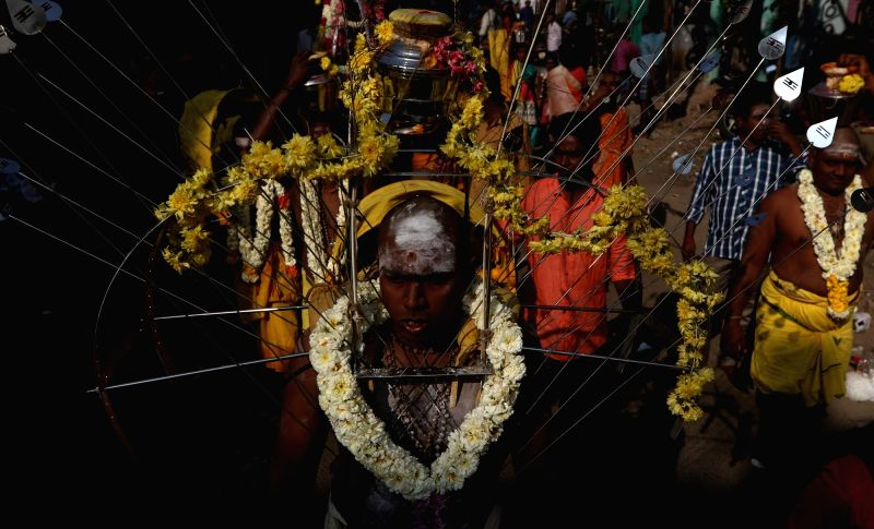 People participate in Thaipusam Festival in Chennai, on Jan 31, 2018.