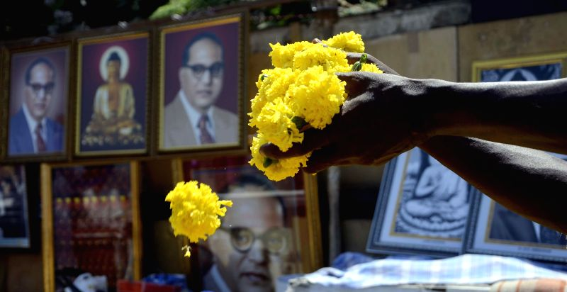 People pay tribute to Dr. BR Ambedkar on his birth anniversary at Chaitya Bhoomi in Mumbai on April 14, 2014.