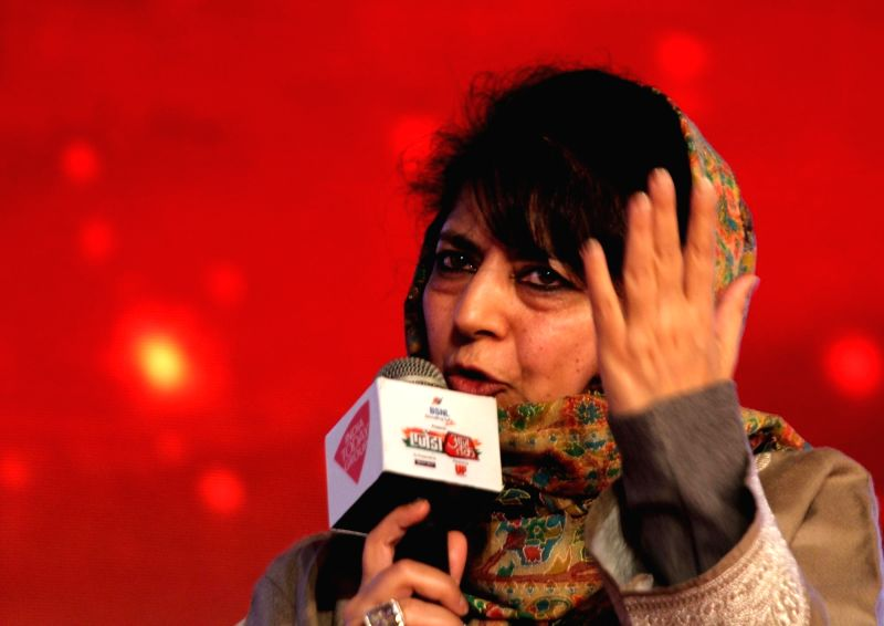 People's Democratic Party president Mehbooba Mufti at Agenda 15 organised by Aaj Tak in New Delhi, on Dec 12, 2015.