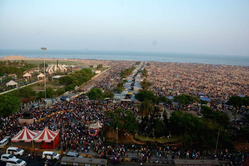 Marina beach on Kaanum Pongal