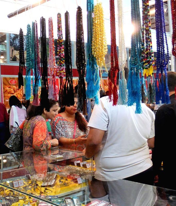 People visit the India International Trade Fair(IITF) -2015 at Pragati Maidan in New Delhi, on Nov 10, 2015.