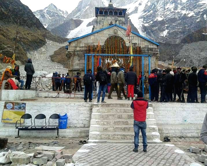People witness the rituals at Kedarnath as the portals of the shrine were closed for winters on Nov 13, 2015.