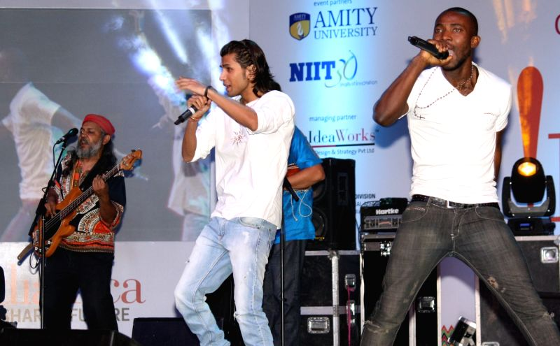 Performance by  indian ocean band at the Africa Day celebrations, in New Delhi on Friday 25 May 2012.