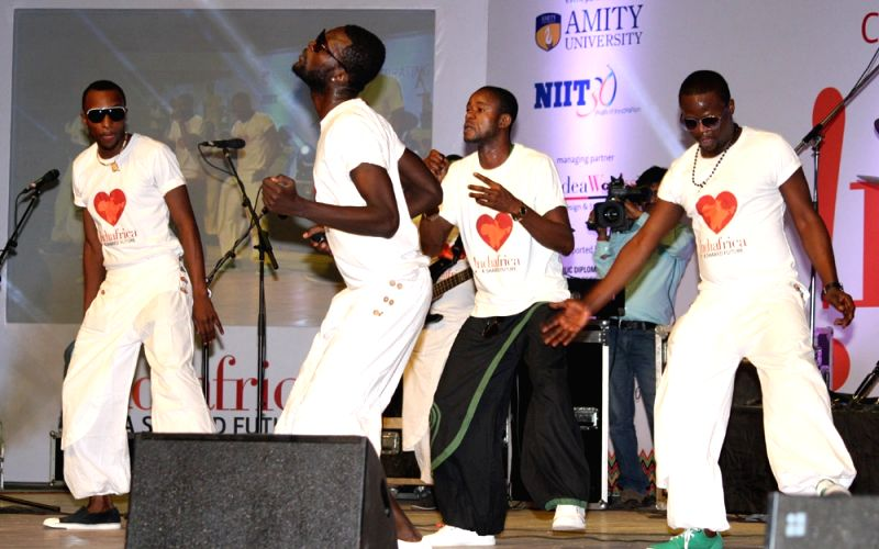Performance by Rio Des Djika band from Democratic Republic of Congo at Africa Day celebrations in New Delhi on Friday 25 May 2012.