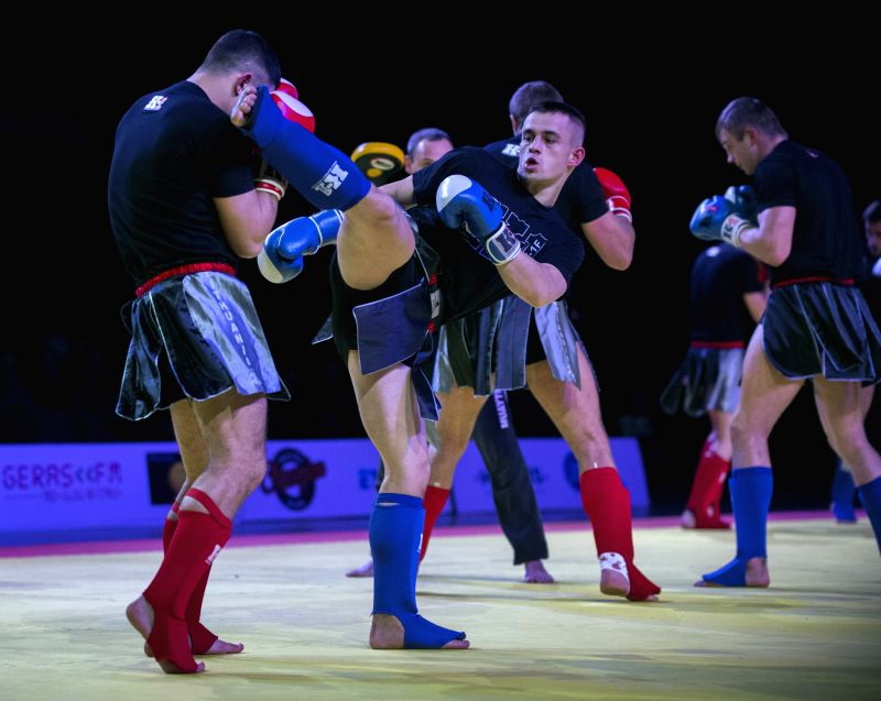 Performances of martial arts are seen in Vilnius, Lithuania, Dec. 10, 2015. Lithuania holds the first martial arts festival on Thursday, bringing more than 30 martial arts performances to ...