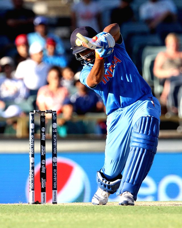 Indian batsman Virat Kohli in action during an ICC World Cup 2015 match between India and UAE at Western Australia Cricket Association Ground, Perth, Australia on Feb 28, 2015. - Virat Kohli