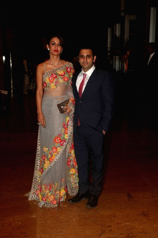 Philanthropist Natasha Poonawalla along with her husband Adar Poonawalla during sangeet ceremony of All India Football Federation (AIFF) President Praful Patel's daughter Poorna Patel  in ... - Praful Patel and Poorna Patel