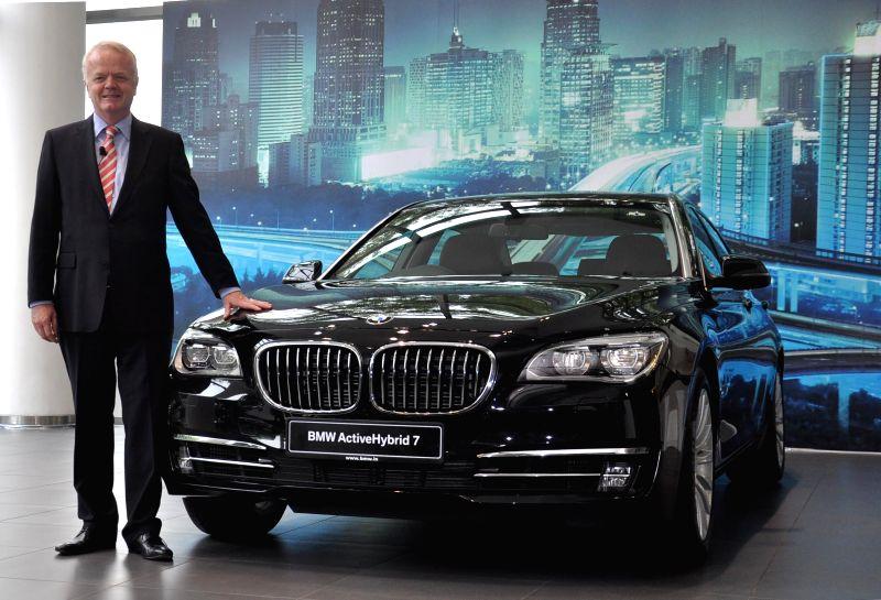 Philipp von Sahr BMW President Group India launches BMW ActiveHybrid 7 in Gurgaon on July 23, 2014.
