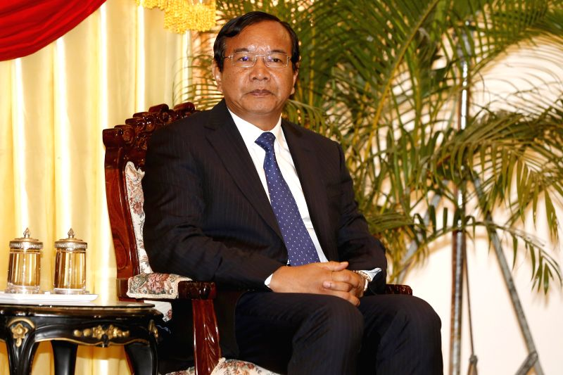 PHNOM PENH, April 5, 2016 - Cambodia's newly-appointed Minister of Foreign Affairs and International Cooperation Prak Sokhonn attends a power transfer ceremony in Phnom Penh, Cambodia, April 5, 2016. ...