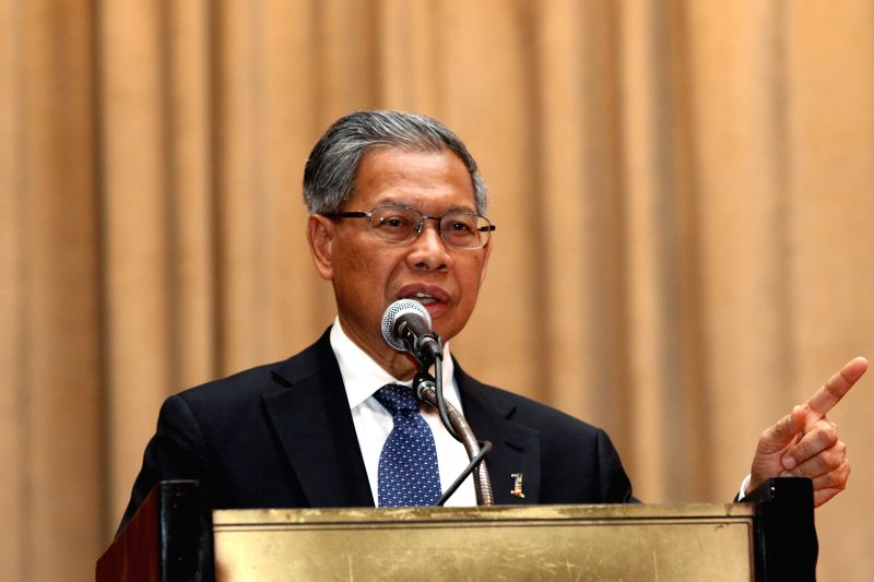 PHNOM PENH, Aug. 9, 2016 - Malaysian Minister of International Trade and Industry Mustapa Mohamed speaks at a Cambodia-Malaysia business forum in Phnom Penh, Cambodia, Aug. 9, 2016. Bilateral trade ...