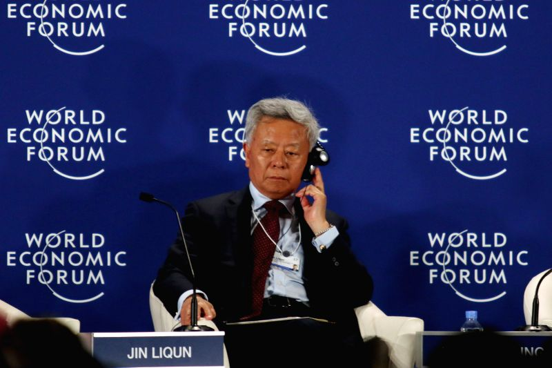 PHNOM PENH, May 12, 2017 - Jin Liqun, president of the Beijing-based Asian Infrastructure Investment Bank (AIIB), attends the World Economic Forum on ASEAN on May 12, 2017 in Phnom Penh, Cambodia. ...
