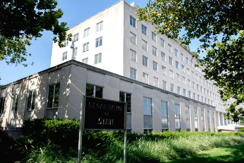 :Photo taken on Aug. 8, 2018 shows the Embassy of Russia in Washington D.C., the United States. As the diplomatic brawl over Russia's alleged poison attack ...