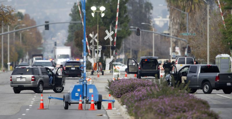 Photo taken on Dec. 4, 2015 shows the outside of the Inland Center where a deadly shooting happened two days ago, in San Bernardino, California. The FBI is ...