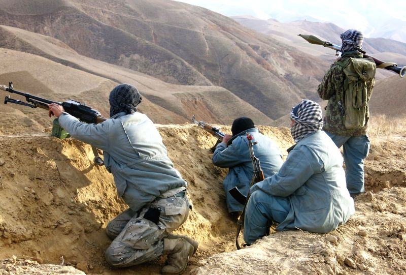 Photo taken on Dec. 7, 2015 shows the site of a military operation in Dar-e-Suf district of Samangan province, northern Afghanistan. Afghan pro-government militants ...