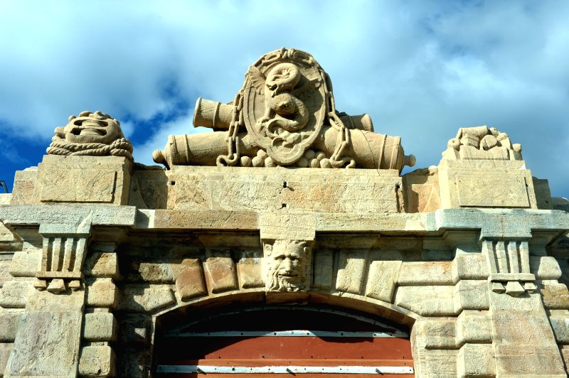 Photo taken on Nov. 21, 2015 shows Dragon Gate, main gate to enter in Fort of Graca, a part of the Garrison Border Town of Elvas and its Fortifications, in Elvas, ...