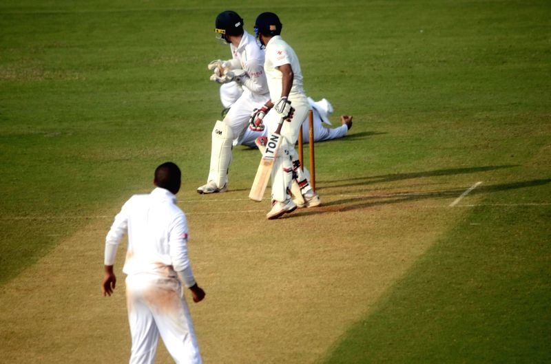 Player in action during a match between Indian Board President`s XI and South African at Brabourne Stadium in Mumbai on Oct 30, 2015.