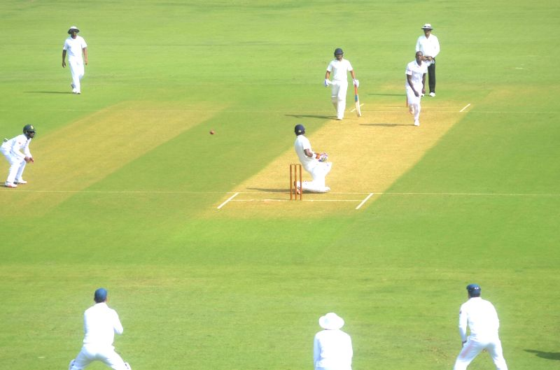 Players in action during a match between Indian Board President`s XI and South African at Brabourne Stadium in Mumbai on Oct 30, 2015.