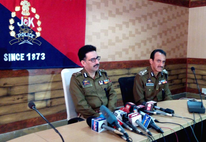Police addresses media on Abu Qasim's killing in Kashmir