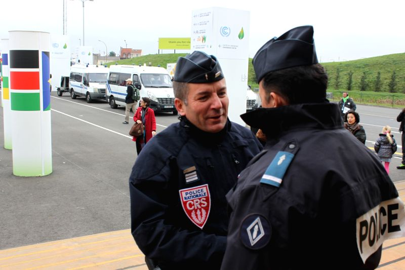 Police presence in the last couple of days of CoP21 has been sharply stepped up.