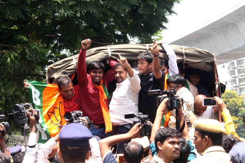 Protests erupt in Telanagana over reservation for Muslims