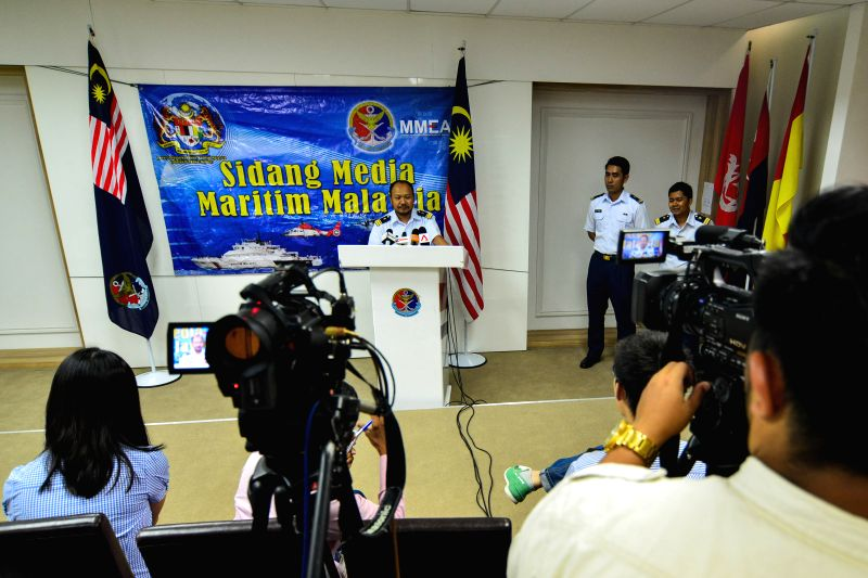 Mohamad Hambali Yaakup, head of the Port Klang office of the Malaysian Maritime Enforcement Agency, speaks at a press conference in Port Klang, Malaysia, June ...