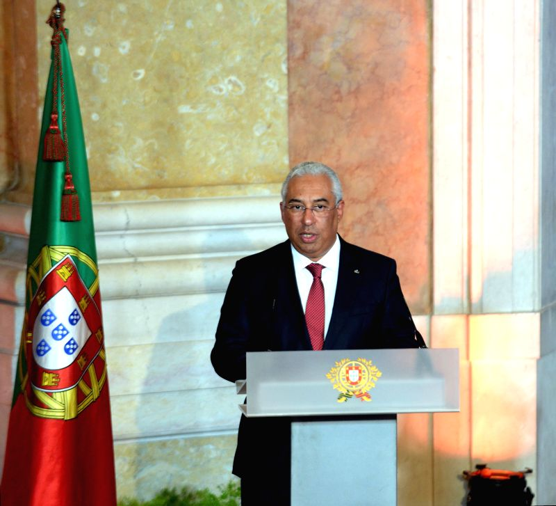 Portugal's Prime Minister Antonio Costa speaks during the swearing-in ceremony of new ministers at Ajuda Palace in Lisbon, Portugal, Nov. 26, 2015. Portugal's new ... - Antonio Costa