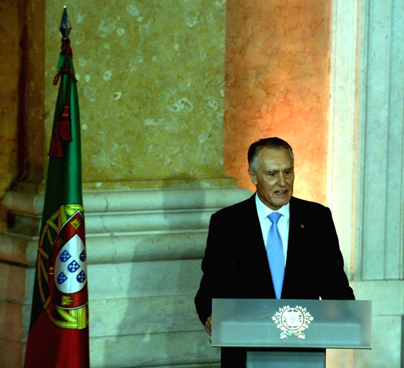 Portuguese President Anibal Cavaco Silva speaks during a swearing-in ceremony at Ajuda Palace in Lisbon on Oct. 30, 2015. Pedro Passos Coelho was sworn in as ...