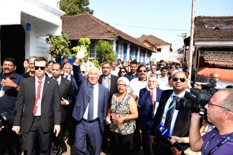 Portuguese Prime Minister Antonio Costa interacts with people in Panaji on Jan 12. 2017. - Antonio Costa