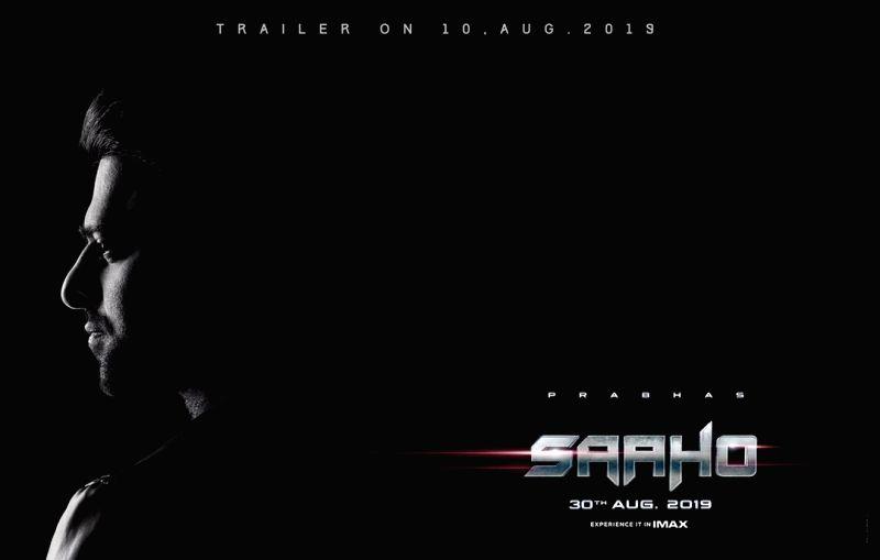 "Poster of Shraddha Kapoor and Prabhas starrer ""Saaho""."