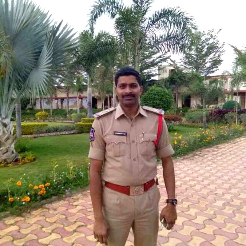 Prabhakar Reddy, a Sub-Inspector of police who committed suicide by shooting himself with his service revolver in Siddipet district in Telangana on June 14, 2017. He was serving at ... - Prabhakar Reddy