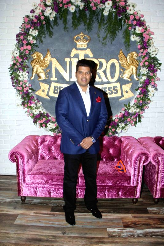Praboddh Davkharey, MD, Nittro Gym during his birthday party celebrations, in Mumbai, on May 29, 2017.