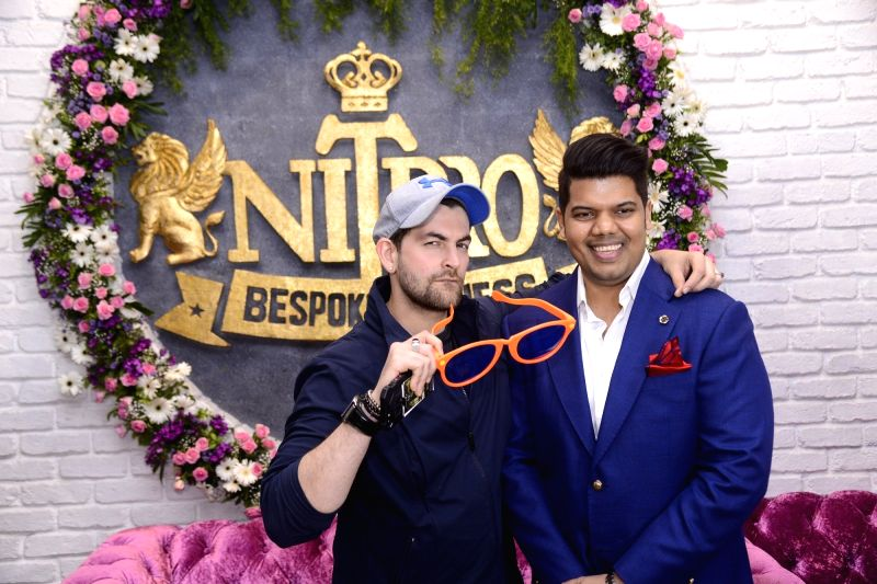 Praboddh Davkharey, MD, Nittro Gym with Bollywood actor Neil Nitin Mukesh during his birthday party celebrations, in Mumbai, on May 29, 2017. - Neil Nitin Mukesh