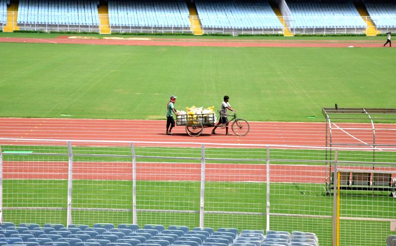 Preparations underway for FIFA U-17 at the Salt Lake Stadium