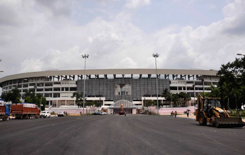 Preparations underway for FIFA U-17 at the Salt Lake Stadium
