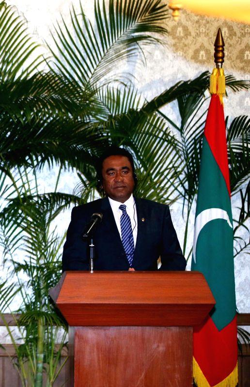 President of Maldives, Abdulla Yameen Abdul Gayoom. (File Photo: IANS)