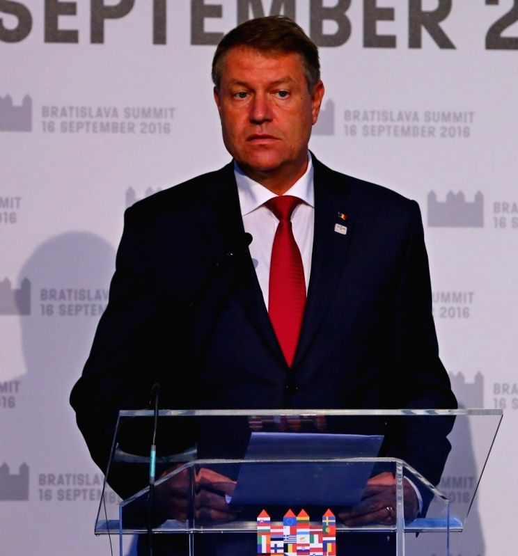President of Romania Klaus Iohannis. (File Photo: IANS)