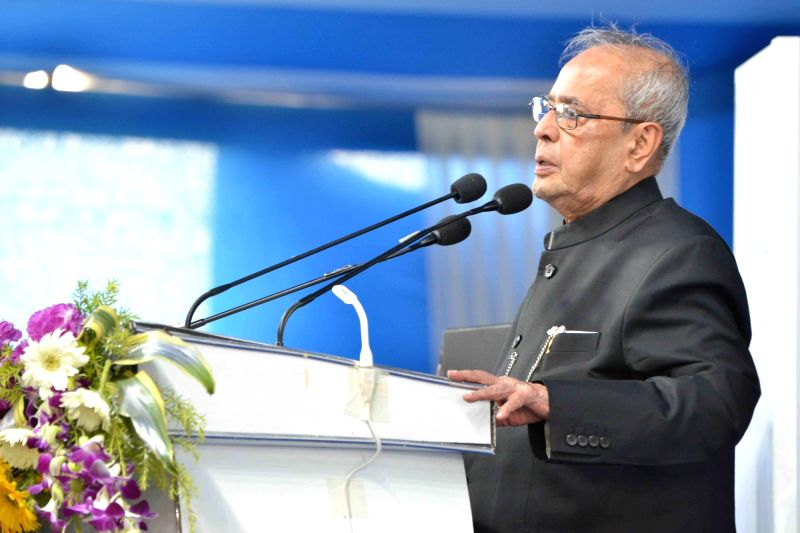 President Pranab Mukherjee addresses at the inauguration of the Indian Institute of Liver and Digestive Sciences in Sonarpur, West Bengal on May 18, 2017. - Pranab Mukherjee