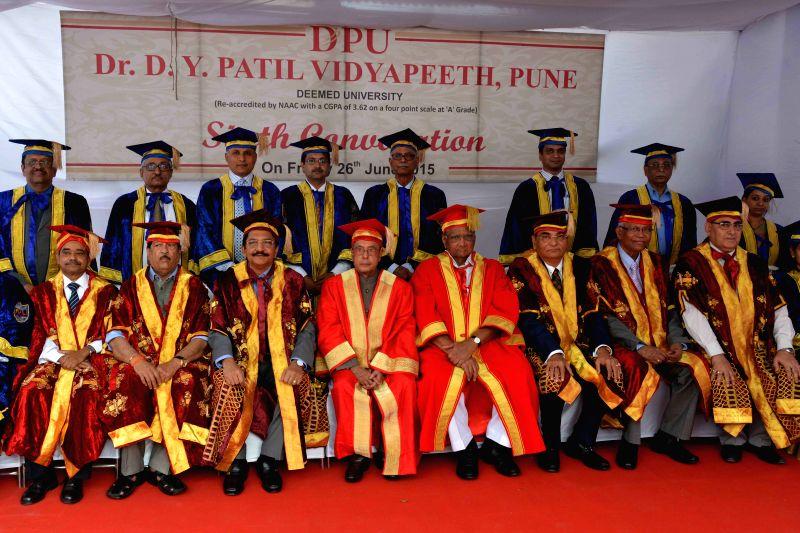 President Pranab Mukherjee addresses at the Sixth Convocation of Dr D.Y. Patil Vidyapeeth in Pune on June 26, 2015. - Pranab Mukherjee