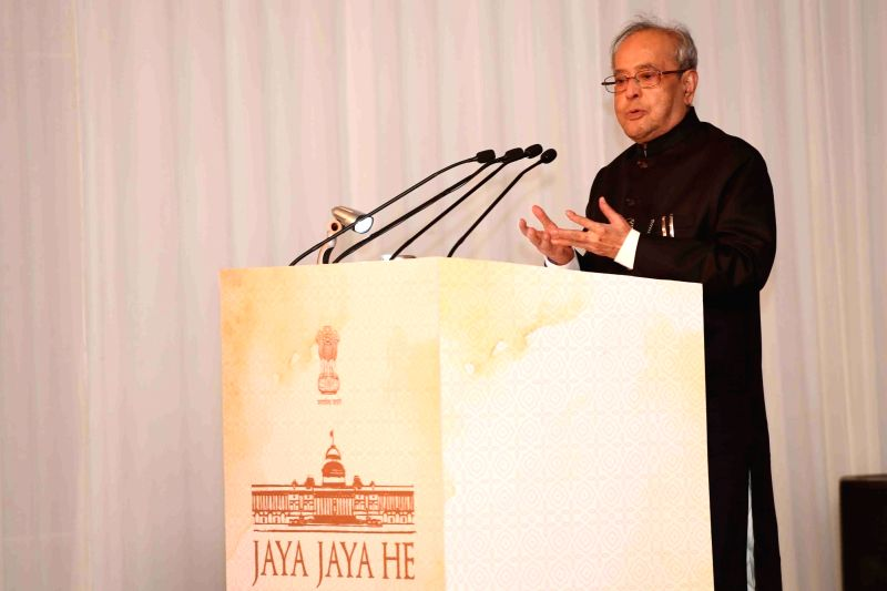 President Pranab Mukherjee addresses during the launch of Micro-Site of Rashtrapati Bhavan at Rashtrapati Bhavan in New Delhi, on July 25, 2016. - Pranab Mukherjee
