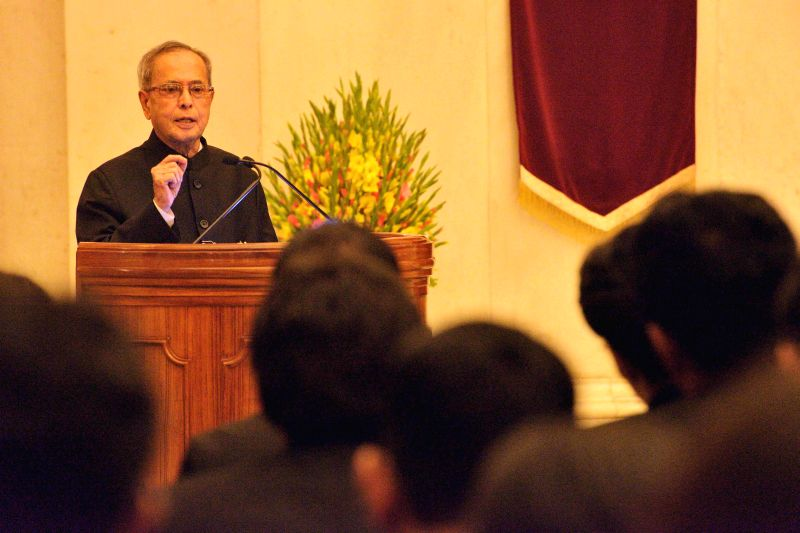 President Pranab Mukherjee addresses Officer Trainees attending IAS Professional Course Phase-I for 2014 Batch at Lal Bahadur Shastri National Academy of Administration (LBSNAA) at Rashtrapati Bhavan ... - Pranab Mukherjee